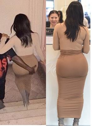 Kanye west and kim kardashian butt grab phrase